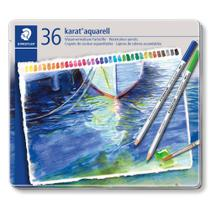 Lápis de Cor Aquarelável Staedtler Karat 36 Cores 125 M36 -