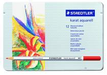Lápis de Cor Aquarelável Staedtler Karat Estojo Metal 012 Cores 125M12 125M12 -