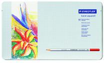 Lápis de Cor Aquarelável Staedtler Karat Estojo Metal 060 Cores 125M60  125M60 -