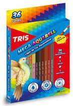 Lápis de Cor Aquarelável Tris Mega Aquarell Triangular 036 Cores 682631 -