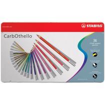 Lápis de Cor Artístico e Profissional Semi Aquarelável 36 Cores Carbothello - Stabilo -