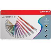 Lápis de Cor Artístico e Profissional Semi Aquarelável 48 Cores Carbothello - Stabilo -