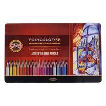 Lapis de Cor Artistico Polycolor 36 Cores Koh-I-Noor -