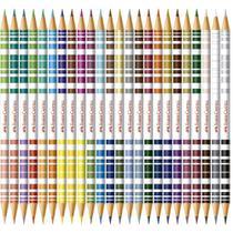 Lapis De Cor Bicolar Faber Castell 24 Lapis/48 Cores -