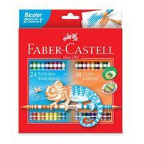Lápis de Cor Bicolor 24 Lápis 48 Cores Faber Castell - Faber-Castell