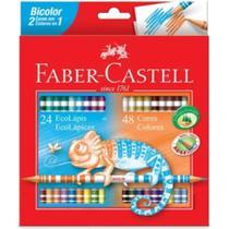 Lapis de Cor Bicolor - 24 Lapis / 48 Cores - Faber-Castell