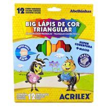 Lápis De Cor Big Triângular Acrilex 12 Cores 09697 -