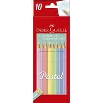 Lapis de cor c/10 cores pastel faber castell -