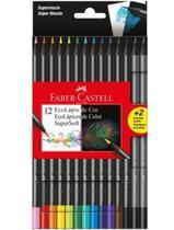Lapis De Cor C/12 Cores +2 Super Soft Faber Castell -
