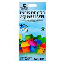 Lapis De Cor C/12 Cores Aquarelavel Acrilex -