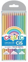 Lapis De Cor C/12 Cores Pastel Criatic Cis -
