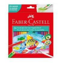 Lapis de cor c/24 cores aquarelavel - 120224g - Faber Castell