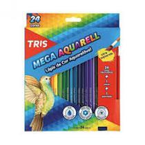 Lapis de cor c/24 cores mega cor aquarela  - 682037 - Tris