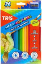 Lapis de cor c/36 cores mega cor aquarela  - 682631 - Tris