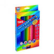 Lapis de cor c/36 cores mega soft color + apontador - 680255 - Tris