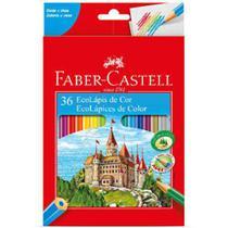 Lapis de cor c/ 36 sextavado - faber castell - Faber-Castell