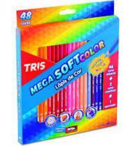 Lapis de cor c/48 cores mega soft color + apontador - 684055 - Tris