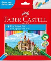 Lapis De Cor C/48 Cores Sextavado Faber Castell -