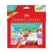 Lapis de cor c/60 cores aquarelavel + pincel - 120260g - Faber Castell