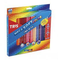 Lapis de cor c/60 cores mega cor soft color  - 684062 - Tris