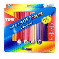 Lapis de cor c.60 cores mega soft c.apontador - 684062 - Tris