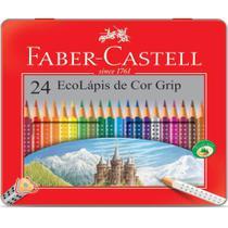 Lapis de cor c/maleta grip 24cores faber castell - Faber-Castell -