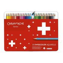 Lápis de Cor Caran D'ache Swisscolor Aquarelável 30 Cores - Caran Dache