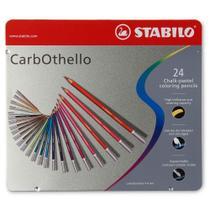 Lápis de Cor Carbothello Semi-Aquarelável 24 Cores - Stabilo -