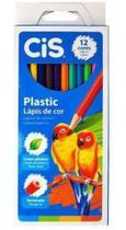 Lapis de Cor Cis Plastic - 12 Cores -