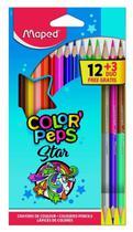 Lápis de Cor Color Peps 12 Unidades + 3 Lapis Duo Bicolor Maped -