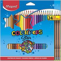 Lapis de cor color peps duo caixa com 24/48 cores - maped -
