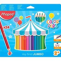 Lapis de cor color peps jumbo c/ 24 834013 - maped - Terra