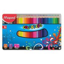 Lapis de cor color peps metal c.36 cores - 832056 - Maped -