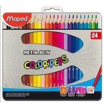 Lapis de cor color peps metal com 24 cores - 832016 - Maped