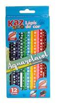 Lápis de cor com 12 cores Aquarelável Zoo - KAZ -