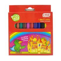 Lapis de cor curto 12 cores pacote com 12 caixas - like -