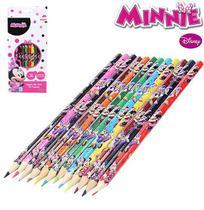 Lápis de Cor da Minnie Disney 12 Cores Sextavado 18cm - 133752 - Etilux