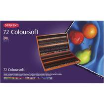 Lapis de Cor Derwent Coloursoft C/72 Cores Estojo de Madeira -
