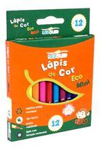 Lápis De Cor Eco  Mini - Sextavado  Leo E Leo 12 cores -
