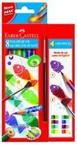 Lápis de Cor Ecolápis Aquarelável Mutante 8 Cores - Faber Castell + Pincel - Faber-Castell