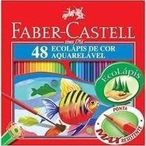 Lápis De Cor Faber 48 Cores Aquarelável - Faber Castell