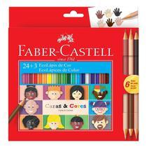 Lápis de Cor Faber Castel Caras e Cores 27 Cores - Faber Castell