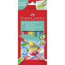 Lápis de cor faber-castell 12 cores aquarelável -
