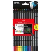 Lapis de cor faber-castell 12 cores super soft -