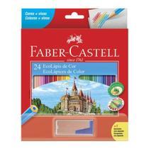 Lapis De Cor FABER CASTELL 24 Cores +1 Apontador C/ Deposito - Faber-Castell -