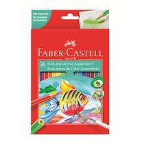 Lápis de cor faber-castell 36 cores aquarelável -