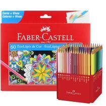 Lapis De Cor FABER CASTELL 60 Cores Com Estojo Ecolapis - FABER-CASTELL