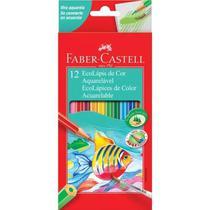 Lápis De Cor Faber Castell Aquarelável 12 Cores Sextavado -