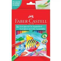Lápis De Cor Faber Castell Aquarelável 36 Cores Sextavado -