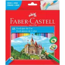 Lápis de Cor Faber Castell Com 48 Cores Ecolápis - Faber-castell -